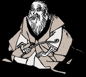 old man meditating by Pixabay
